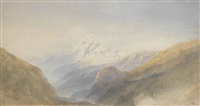 snow-capped peak by william leighton leitch