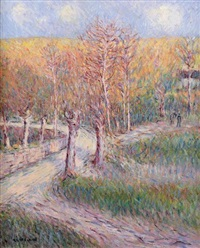 paysage by gustave loiseau