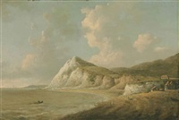 a view on the coast, probably st. margaret's bay, kent by william marlow
