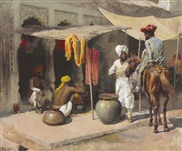 outside the indian dye house by edwin lord weeks