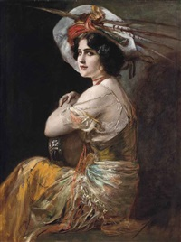 the tambourine girl by friedrich august von kaulbach