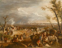 gathering of the cavalry by francesco simonini