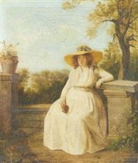 portrait de madame danloux enceinte by jacques sablet