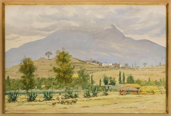paisaje con pastor by mario almela