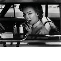 marilyn: marilyn with barbells; marilyn at the drive-in; marilyn jumping; the true marilyn; portrait (6 works) by philippe halsman