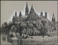 view of the houses of parliament, ottawa by edward john hughes
