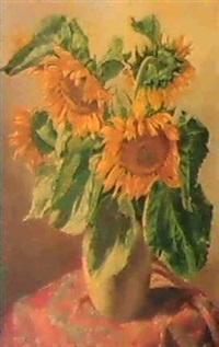 sonnenblumen by petrus johannes m. (piet) cottaar