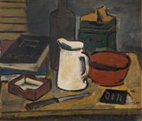 bodegón con jarra blanca (+ bodegón, verso; 2 works) by antonio pezzino