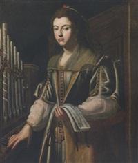ritratto di dama come santa cecilia by carlo sellitto