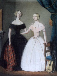 portrait de miss green et miss king by w.h.f.l. langschmidt