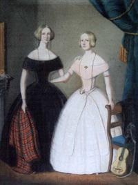 portrait de miss green et miss king by w.h.f.l. langschmidt