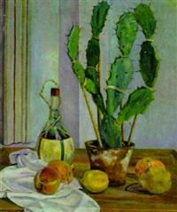 stilleben mit kaktus by hermann konnerth