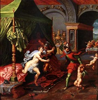 the chastisement of cupid, or henri iv discovering gabrielle d'estrée's infidelity by marten pepyn
