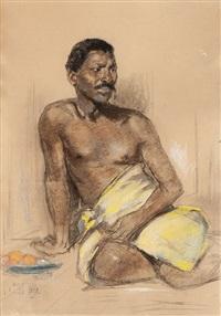 seated man by solomon garf