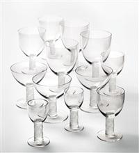 set of cep stemware (set of 72) by rené lalique