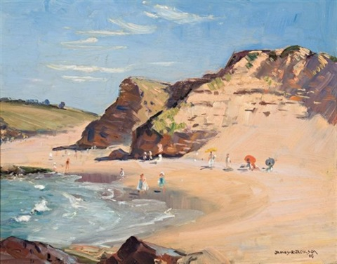 beach scene narabeen north by james ranalph jackson