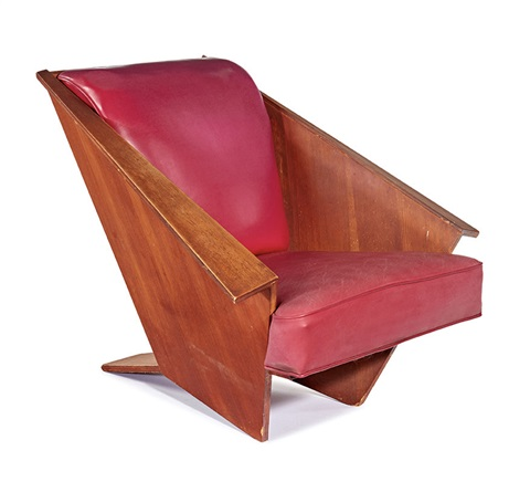 Awesome Origami Lounge Chair By Frank Lloyd Wright On Artnet Theyellowbook Wood Chair Design Ideas Theyellowbookinfo