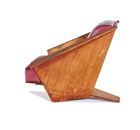 Remarkable Origami Lounge Chair By Frank Lloyd Wright On Artnet Theyellowbook Wood Chair Design Ideas Theyellowbookinfo