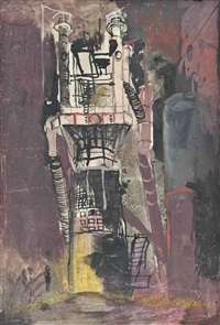 blast furnace tower by graham sutherland