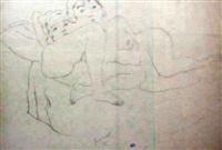 nues allongées by jules pascin