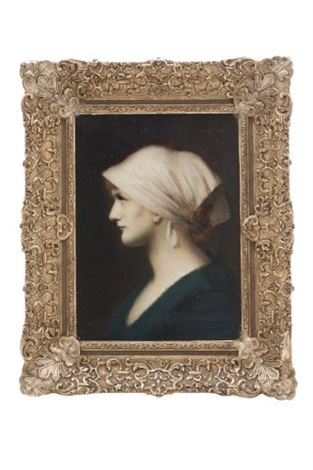 retrato de dama by jean jacques henner
