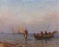 le retour des pêcheurs by paul jobert