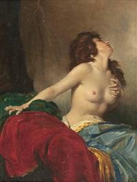 weiblicher halbakt by miklos (nickolas) mihalovits