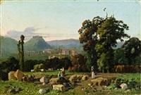 italienische landschaft by federico cortese