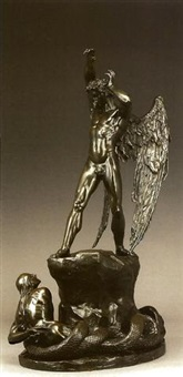 st michael and the serpent or satan dismayed by henry hugh armstead