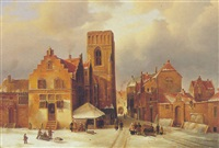 breda in winter by frederick willem del campo