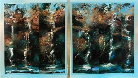 double concert for falling water diptych by david john voight