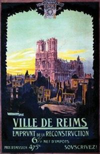 ville de reims - la cathédrale - emprunt de la reconstruction 6% by adrien senechal