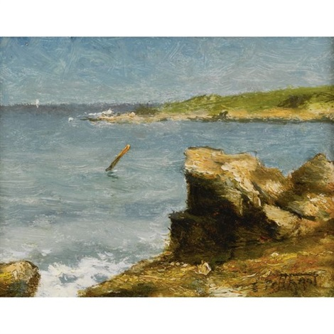 rocky shore by edward henry potthast