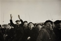 spectators at the kirov stadium, leningrad by cornell capa