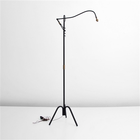adjustable floor lamp by jacques adnet