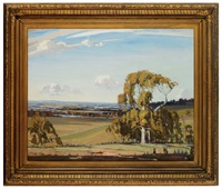 sweeping summer landscape by robert waden