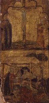 the crucifixion and the nativity by bernardo daddi