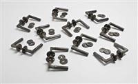 ten sets of door handles with lock plates by adolf meyer and walter gropius