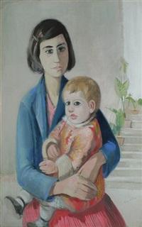 femme et enfant by alfred gaspart