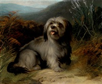 a terrier in a landscape by george earl
