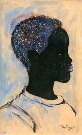 portrait of a black boy by ben enwonwu