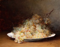 raisins blancs sur un plat by guillaume romain fouace