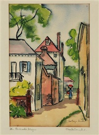 st. michael's alley & charleston gate (2 works) by edith demay smith