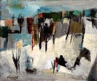 les collines en hiver by jean marcel dannet