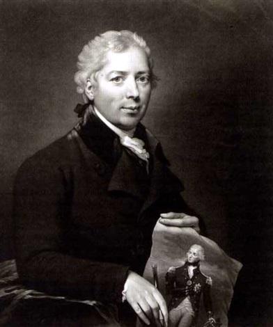 self portrait of the artist holding a portrait of nelson by n green by lemuel francis abbott
