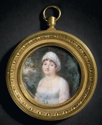 portrait de madame henriette-sophie de la fontaine, épouse de coincy, cousine germaine de madame augustin by jean baptiste jacques augustin