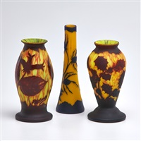vases (3 works) by richard di (buddy) rosa