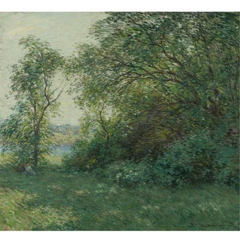 the bower by willard leroy metcalf