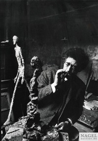 alberto giacometti, paris 1960 by rené burri