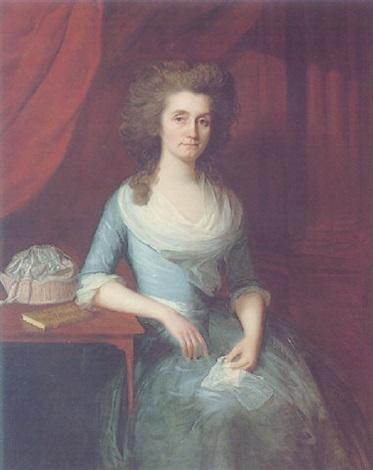 Portrait Of Elizabeth Wilson Wife Of Bishop Andrew Downe By Lemuel